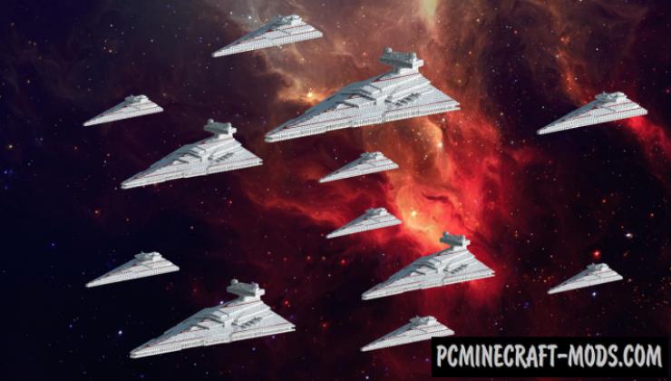 Star Destroyer - 3D Art, Building Map Minecraft