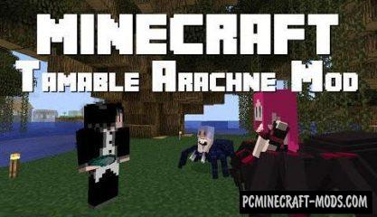 Tameable Arachne Mod For Minecraft 1.12.2, 1.7.10
