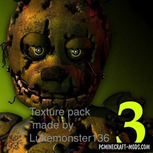 Five Nights at Freddy's 3 Texture Pack For Minecraft 1.8.9