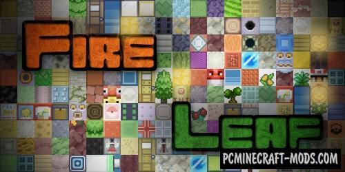Fire Leaf 16x Resource Pack For Minecraft 1.8.9, 1.7.10