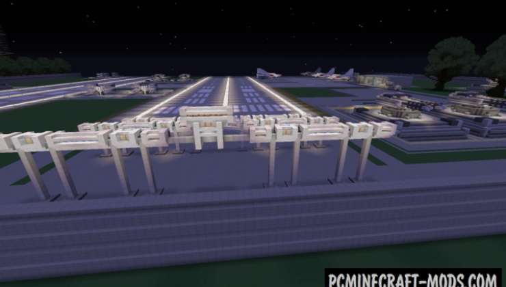 AirBase - 3D Art, Building Map For Minecraft