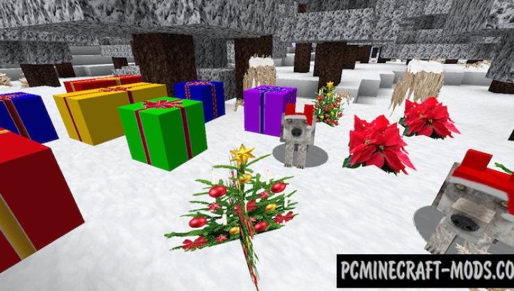 Zedercraft Christmas HD Texture Pack For MC 1.8.9, 1.7.10