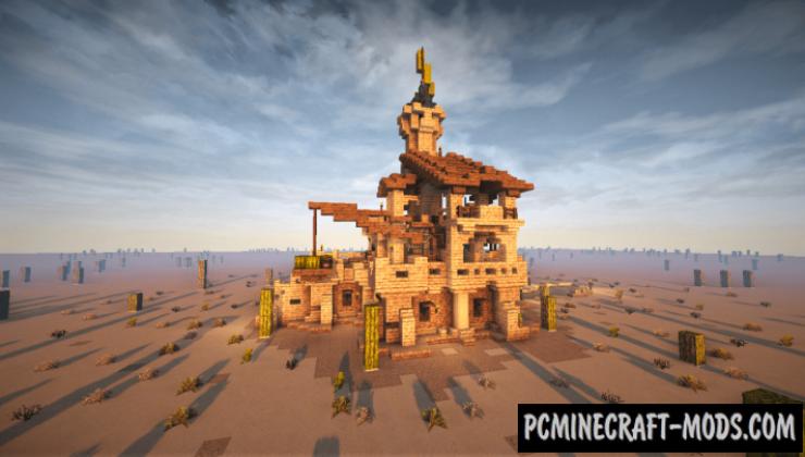 Oriental Desert House Map For Minecraft