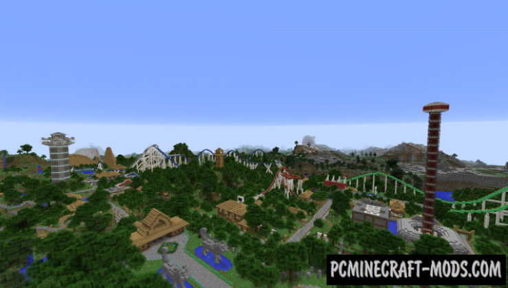 Rollercoaster Park - Buildings Map For Minecraft
