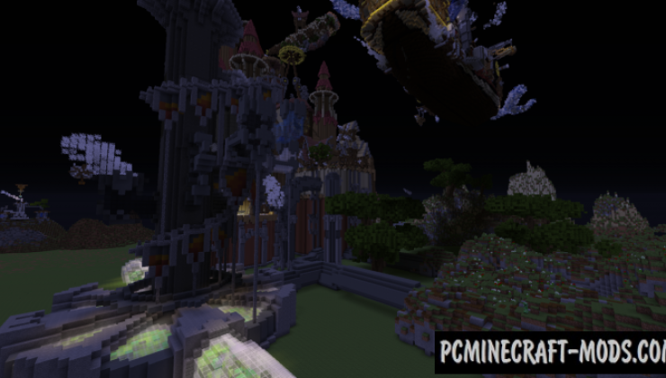 SteamKingdom - Steampunk City Map For Minecraft