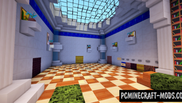 Piston House Map For Minecraft