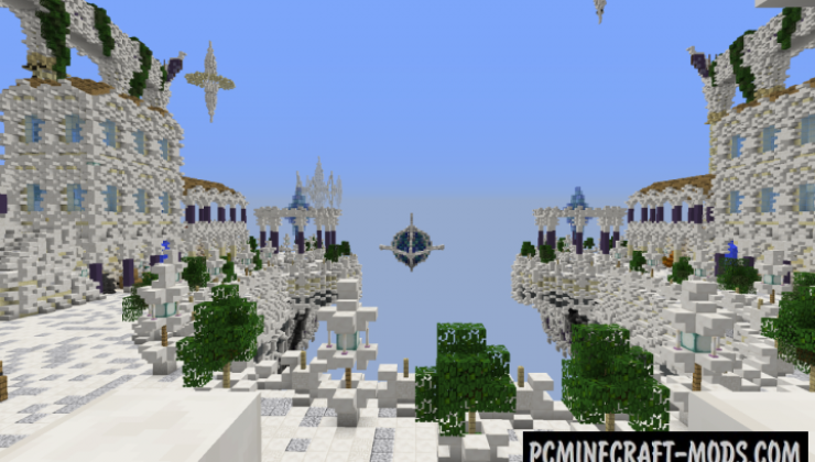 The Aerie Sky City Map For Minecraft