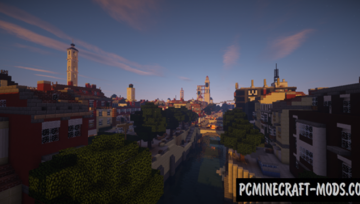 Dying light - City, Buildings Map For Minecraft