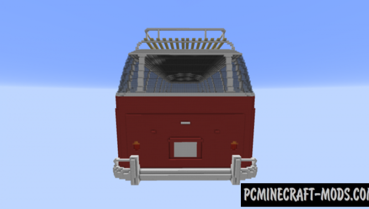 Volkswagen T1 Bus - 3D Art Map For Minecraft