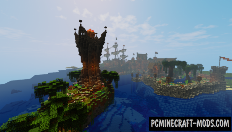 Harbor Survival Spawn - Adv Map For Minecraft