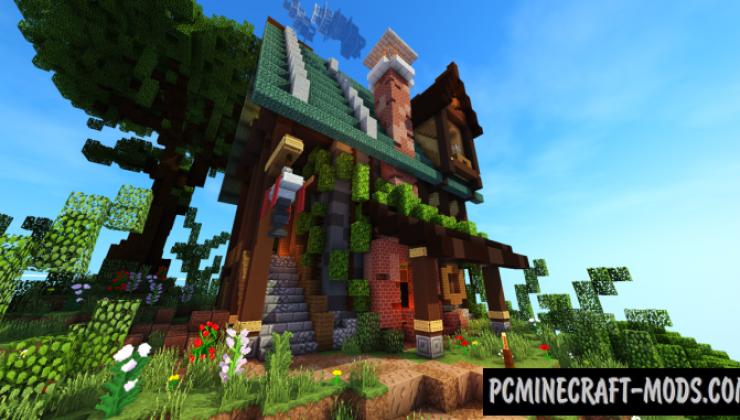 Tudor style house Map For Minecraft 1.15, 1.14.4 | PC Java ...