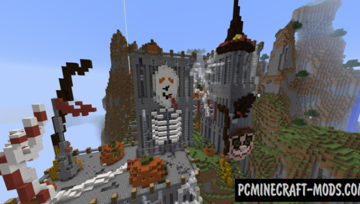 Halloween Horror Castle Map For Minecraft