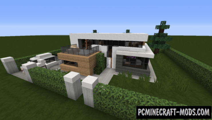 Small Modern House Map For Minecraft 1122 1121 PC Java Mods