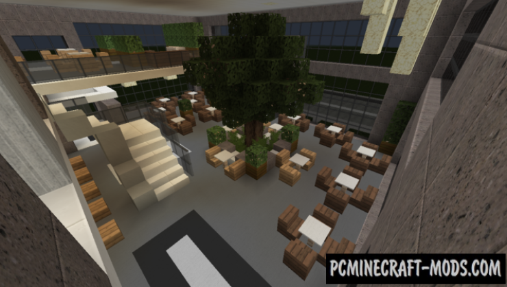 how to build a restaurant in minecraft pc