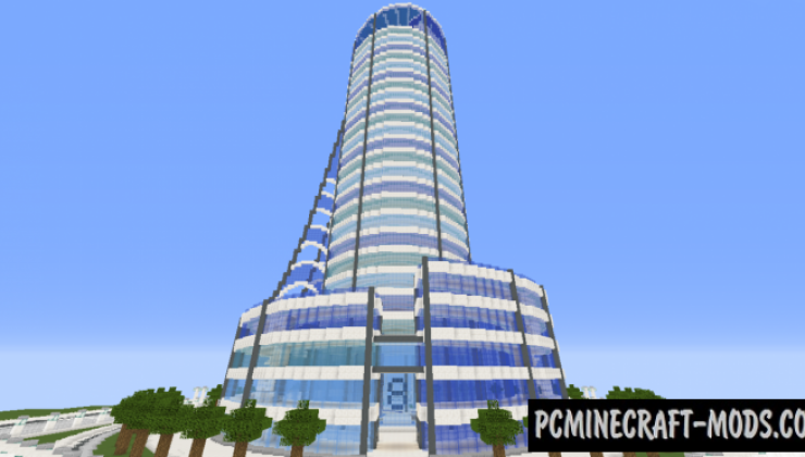 Quartz Tower - Building Map For Minecraft