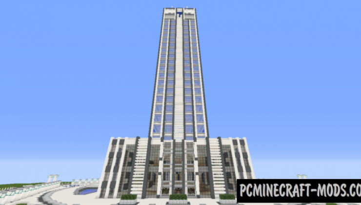 Quartz Tower #8 - Building Map For Minecraft