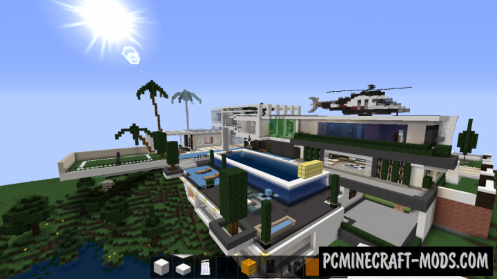 Huge Modern House Map For Minecraft PC Java Mods - Minecraft house map download
