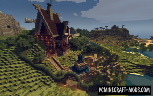 Medieval Windmill House Map For Minecraft