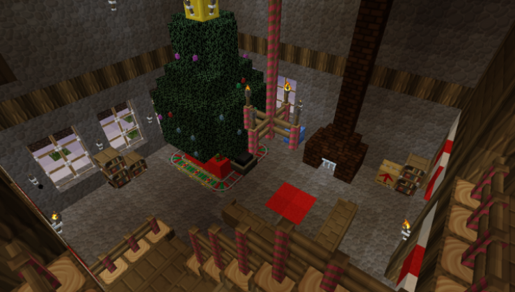 Holiday Agent: The Winterrowd Map For Minecraft