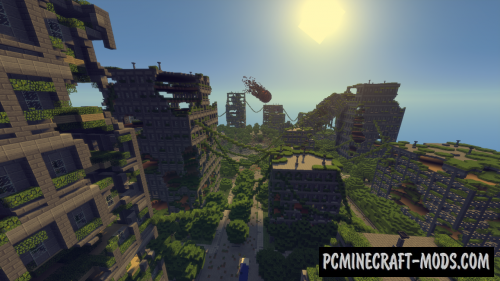 Minecraft Post Apocalyptic Map - Klippdesign
