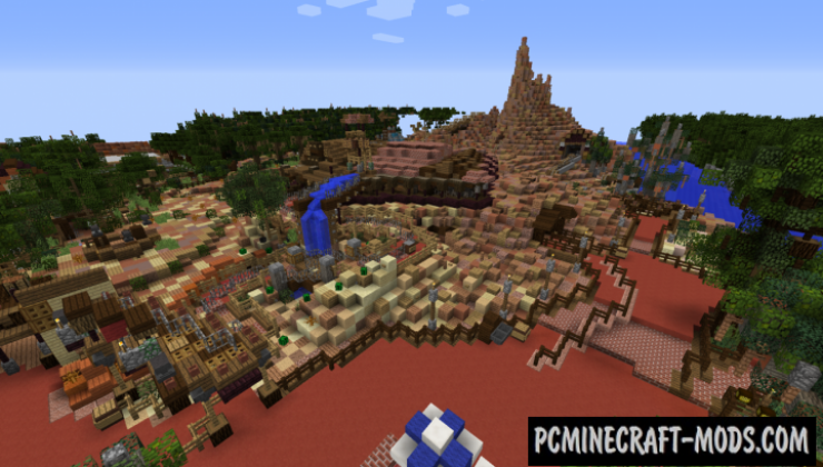 Walt Disney World Magic Kingdom Map Minecraft