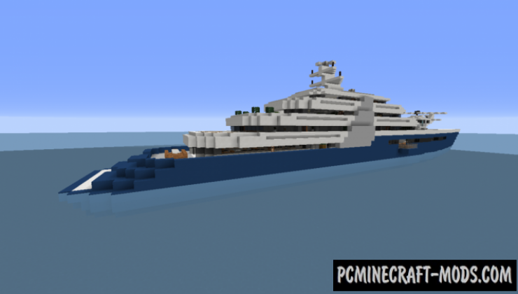 Modern Mega Yacht - House Map For Minecraft