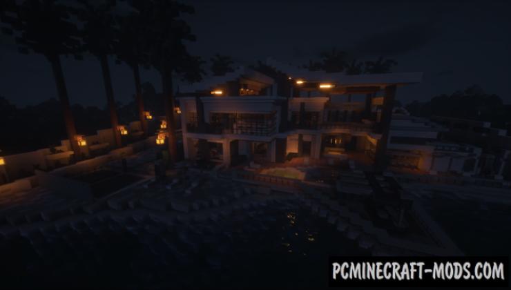 Aventurine Villa - House Map For Minecraft