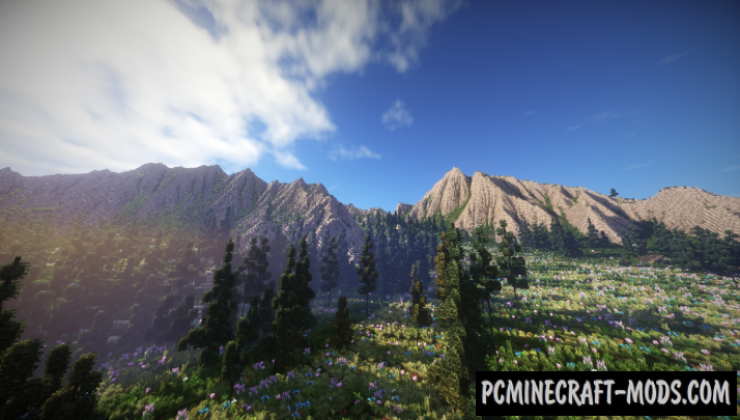 Mountain Valley Meadow Map For Minecraft