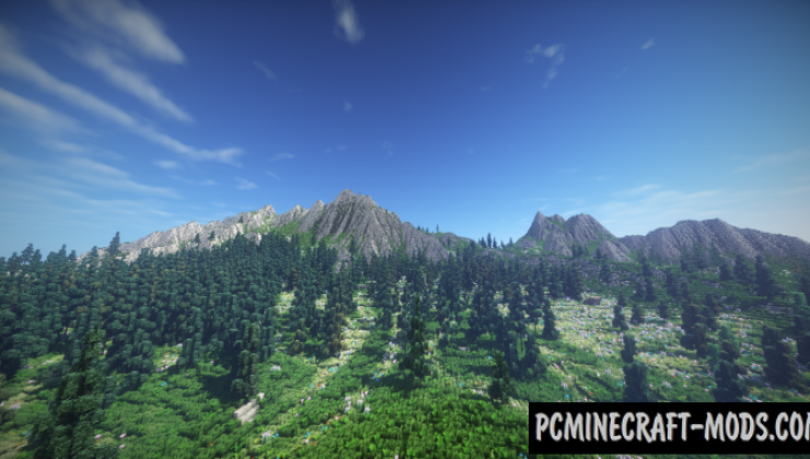 Mountain Valley Meadow Map For Minecraft 1.15, 1.14.4 | PC ...