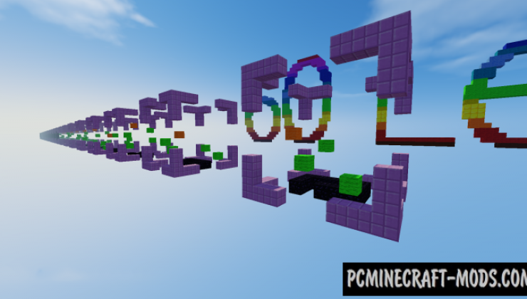 60 Levels HD - Parkour Map For Minecraft