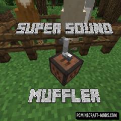 Super Sound Muffler Mod For Minecraft 1.12.2, 1.11.2, 1.10.2