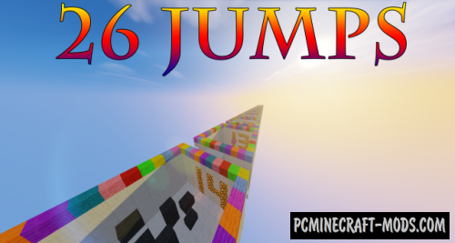 26 Jumps - Parkour Map For Minecraft