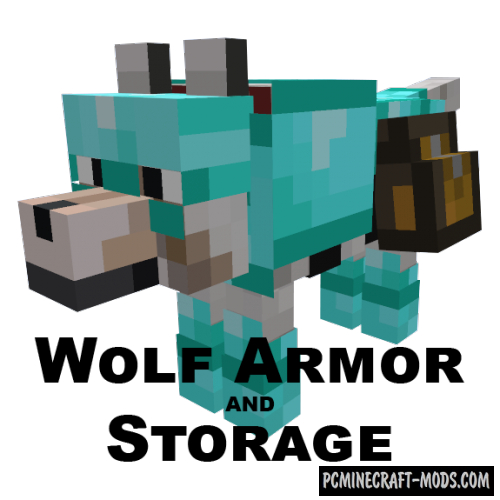 Wolf Armor and Storage Mod For Minecraft 1.12.2