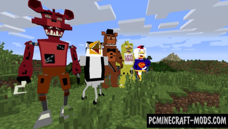 Five Nights at Freddy's Realistic Models Mod For Minecraft 1.7.10
