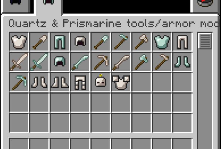 Quartz and Prismarine Armor/Tools Mod For Minecraft 1.8