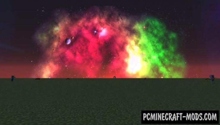 Realistic Space Sky HD Texture Pack MC 1.8.9, 1.7.10