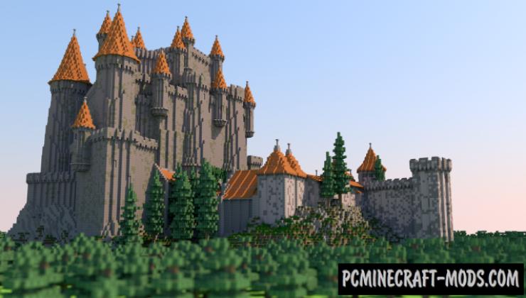 Overwatch - Eichenwalde Castle Map For Minecraft