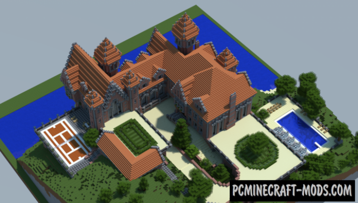 The Red Castle Map For Minecraft