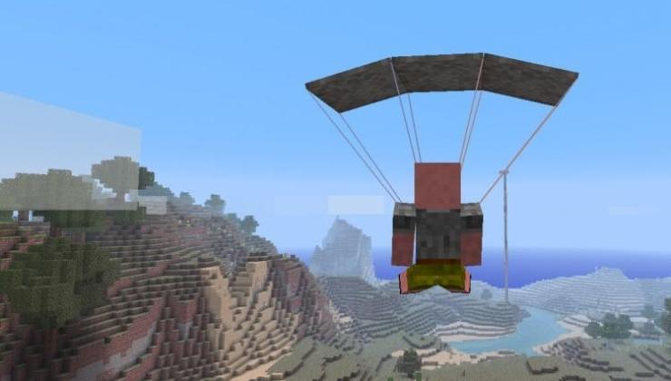 Parachute Mod For Minecraft 1.12.2, 1.11.2, 1.10.2, 1.7.10