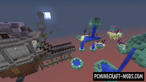 Isle Dream - Parkour, Puzzle Map For Minecraft