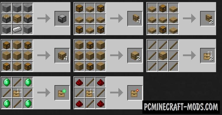 Storage Drawers Mod For Minecraft 1.12.2, 1.11.2, 1.10.2, 1.8.9