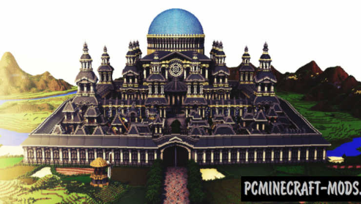 The Academy - Castle, Building Map Minecraft