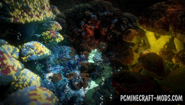 Nuxio - Terrain, Survival, Adv Map For Minecraft