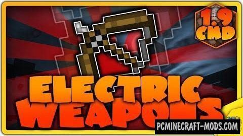Electric Weapons Command Block For Minecraft 1.9.4, 1.9