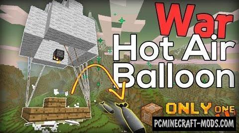 Hot Air Balloon Command Block For Minecraft 1.9.4, 1.9