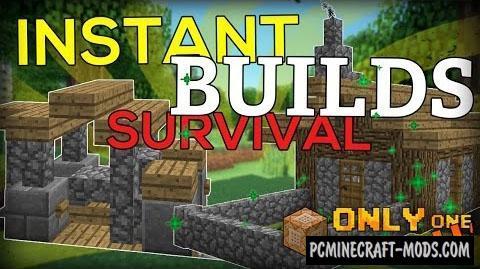 Instant Survival Buildings Command Block MC 1.10.2, 1.9.4