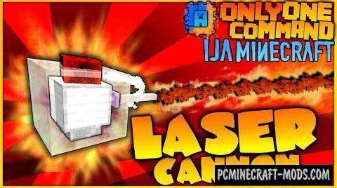 Laser Cannons Command Block For Minecraft 1.9.4, 1.9