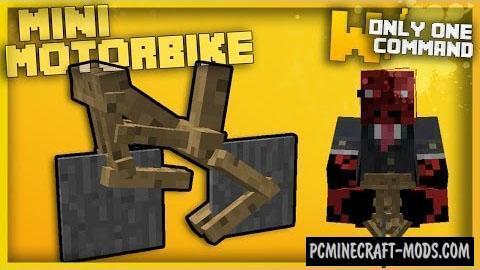 Mini Motorbike Command Block For Minecraft 1.10.2, 1.9.4
