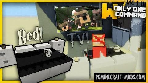 Modern Bedroom Furniture Command Block 1.10.2, 1.10, 1.9.4