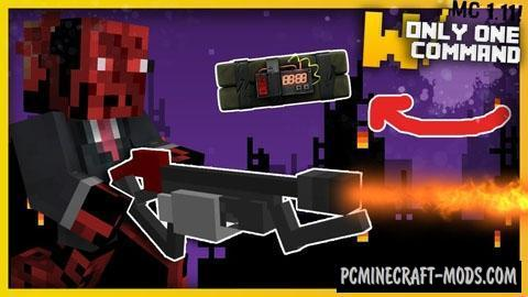 Modern Weapons Command Block For Minecraft 1.11.2, 1.11